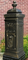 Ecco 8 Tower Mailbox Bronze