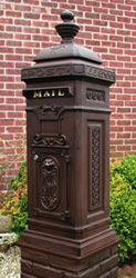 Ecco 8 Tower Mailbox Rust Brown