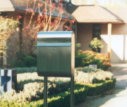European Home Antares Post Mailbox Installed