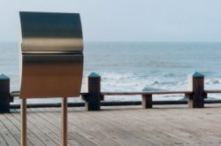 European Home Vega Post Mailbox Installed