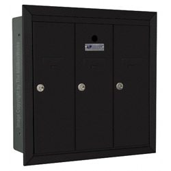 Florence 12503 Vertical Mailbox Black