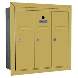 Florence 12503 Vertical Mailbox Gold Speck