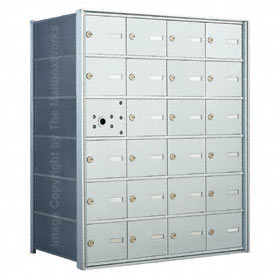 Florence 140064 Horizontal Mailbox Anodized Aluminum