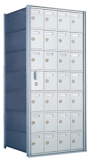 Florence Private Distribution Mailboxes 4B+ Horizontal 1600 Series 28 Door (27 Useable) 7 High