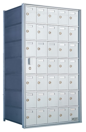 Florence Private Distribution Mailboxes 4B+ Horizontal 1600 Series 35 Door (34 Useable) 7 High