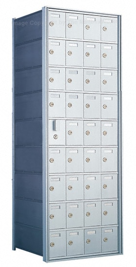 Florence Private Distribution Mailboxes 4B+ Horizontal 1600 Series 36 Door (35 Useable) 9 High