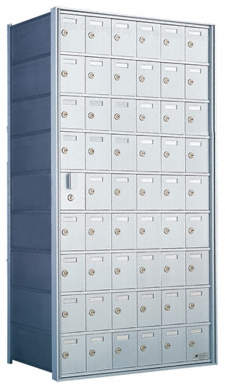 Florence Private Distribution Mailboxes 4B+ Horizontal 1600 Series 54 Door (53 Useable) 9 High