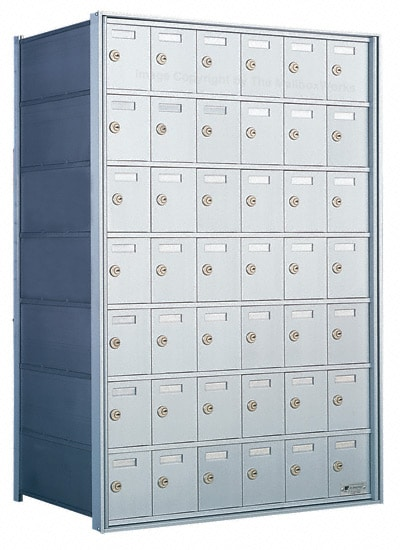 Florence Private Distribution Mailboxes 4B+ Horizontal 1700 Series 42 Door 7 High