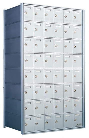 Florence Private Distribution Mailboxes 4B+ Horizontal 1700 Series 48 Door 8 High