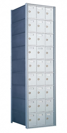 Florence Private Distribution Mailboxes 4B+ Horizontal 1700 Series 27 Door 9 High