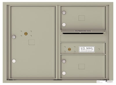 4C06D-02 Front Loading Private Use Commercial 4C Mailboxes – 2 Tenant Doors 1 Parcel Locker Product Image