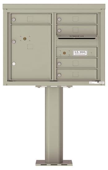 4C06D-05-P Commercial 4C Pedestal Mailboxes – 5 Tenant Doors 1 Parcel Locker Product Image