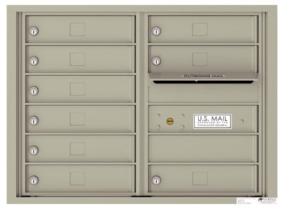 4C06D-09 Front Loading Commercial Surface Mount 4C Mailboxes – 9 Tenant Doors