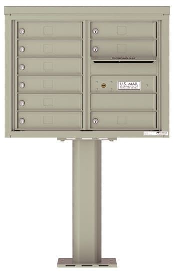 4C06D-09-P Commercial 4C Pedestal Mailboxes – 9 Tenant Doors