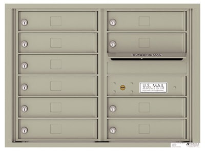 4C06D-10 Front Loading Commercial Surface Mount 4C Mailboxes – 10 Tenant Doors
