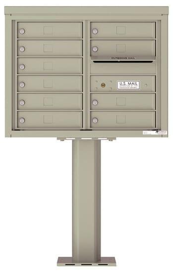 4C06D-10-P Commercial 4C Pedestal Mailboxes – 10 Tenant Doors