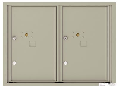 4C06D-2P Front Loading Private Use Commercial 4C Parcel Lockers – 2 Parcel Lockers