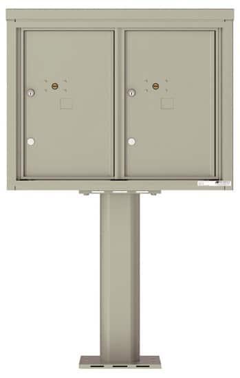 Commercial 4C Pedestal Mailboxes – 4C06D-2P-P Parcel Lockers – 2 Parcel Lockers Product Image