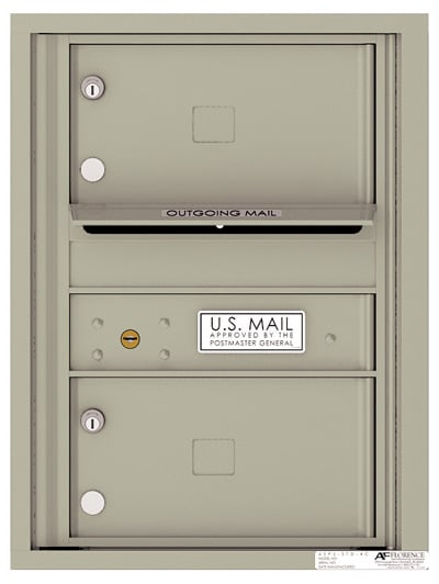 4C06S-02 Front Loading Private Use Commercial 4C Mailboxes – 2 Tenant Doors