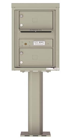 4C06S-02-P Commercial 4C Pedestal Mailboxes – 2 Tenant Doors