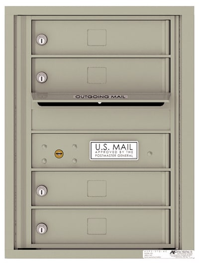 4C06S-04 Front Loading Private Use Commercial 4C Mailboxes – 4 Tenant Doors