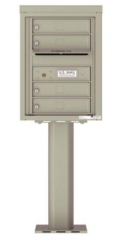 4C06S04-P Commercial 4C Pedestal Mailboxes
