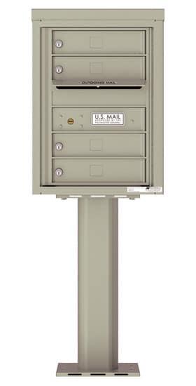 4C06S-04-P Commercial 4C Pedestal Mailboxes – 4 Tenant Doors