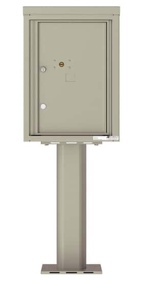 Commercial 4C Pedestal Mailboxes – 4C06S-1P-P Parcel Lockers – 1 Parcel Locker