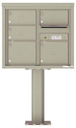 4C07D05-P Commercial 4C Pedestal Mailboxes