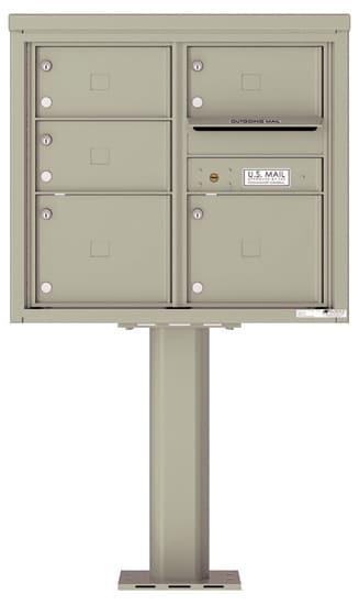 4C07D-05-P Commercial 4C Pedestal Mailboxes – 5 Tenant Doors