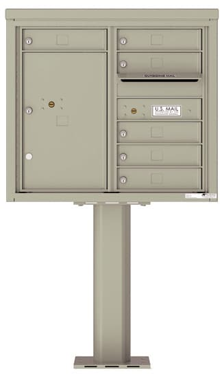 4C07D-06-P Commercial 4C Pedestal Mailboxes – 6 Tenant Doors 1 Parcel Locker