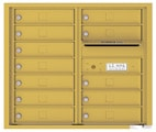 Florence 4C Mailboxes 4C07D-12 Gold Speck