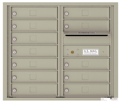 4C07D-12 Front Loading Private Use Commercial 4C Mailboxes – 12 Tenant Doors