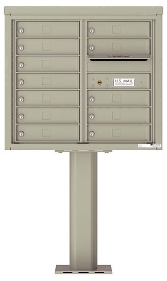 4C07D12-P Commercial 4C Pedestal Mailboxes