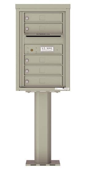 4C07S-05-P Commercial 4C Pedestal Mailboxes – 5 Tenant Doors Product Image
