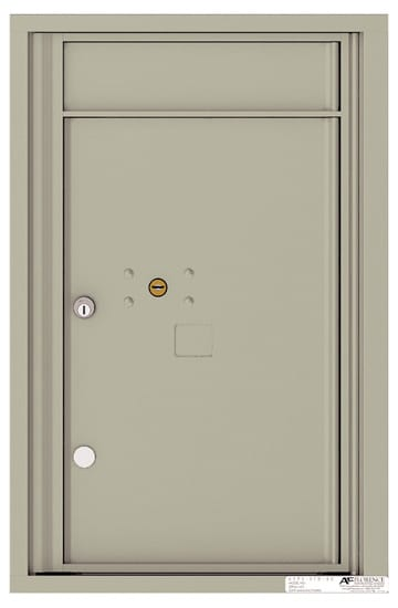4C07S-1P Front Loading Commercial Surface Mount 4C Parcel Lockers – 1 Parcel Locker