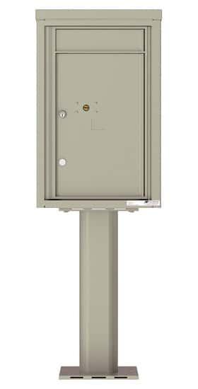 Commercial 4C Pedestal Mailboxes – 4C07S-1P-P Parcel Lockers – 1 Parcel Locker