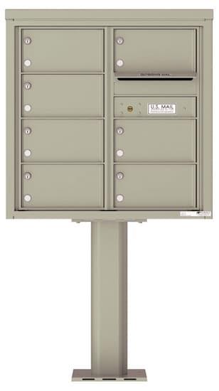 4C08D-07-P Commercial 4C Pedestal Mailboxes – 7 Tenant Doors