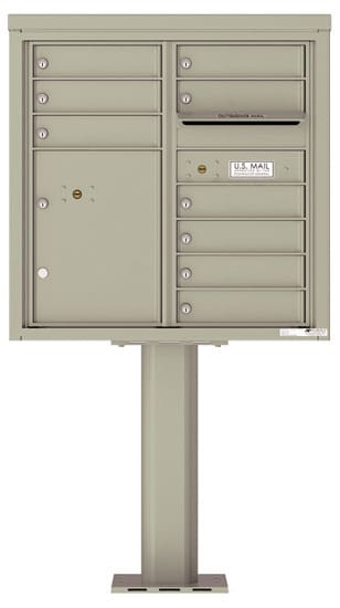 4C08D-09-P Commercial 4C Pedestal Mailboxes – 9 Tenant Doors 1 Parcel Locker