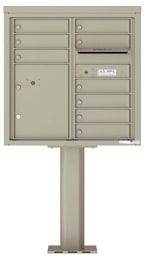 Florence 4C Pedestal 4C08D-09-P Postal Grey