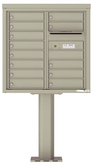 4C08D-13-P Commercial 4C Pedestal Mailboxes – 13 Tenant Doors