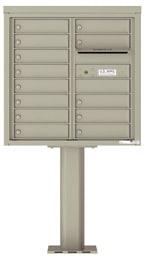 Florence 4C Pedestal 4C08D-13-P Postal Grey