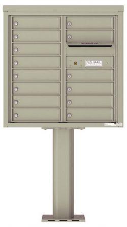 4C08D14-P Commercial 4C Pedestal Mailboxes