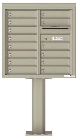4C08D-14-P Commercial 4C Pedestal Mailboxes – 14 Tenant Doors
