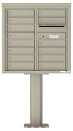 Florence 4C Pedestal 4C08D-14-P Postal Grey