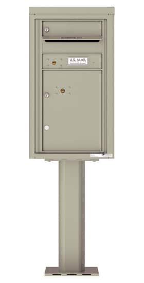 4C08S-01-P Commercial 4C Pedestal Mailboxes – 1 Tenant Door 1 Parcel Locker