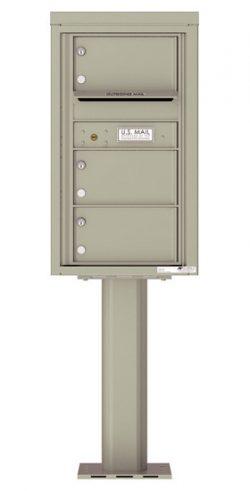 4C08S03-P Commercial 4C Pedestal Mailboxes