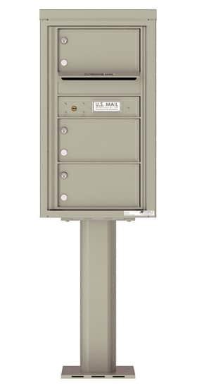 4C08S-03-P Commercial 4C Pedestal Mailboxes – 3 Tenant Doors Product Image