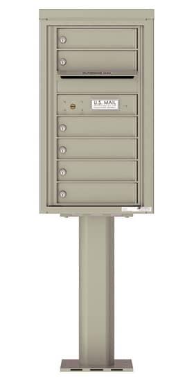 4C08S-06-P Commercial 4C Pedestal Mailboxes – 6 Tenant Doors