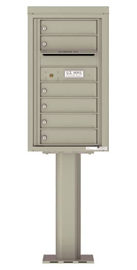 4C08S-06-P Commercial 4C Pedestal Mailboxes – 6 Tenant Doors Product Image